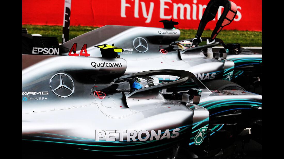 Hamilton & Bottas - Mercedes - Formel 1 - GP Spanien - Barcelona - 12. Mai 2018