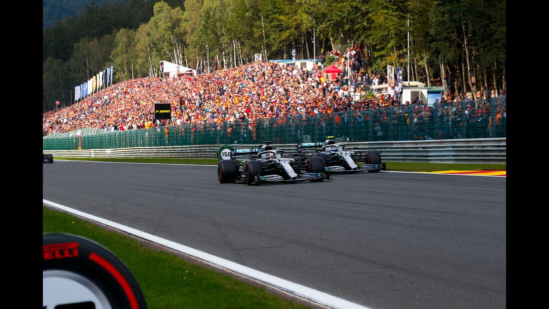 Hamilton - Bottas - Mercedes - GP Belgien 2019 - Spa-Francorchamps