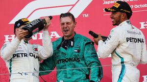 Hamilton - Bottas - Mercedes - GP Japan 2018 - Suzuka - Rennen