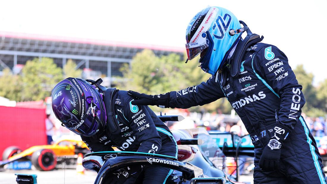 Hamilton - Bottas - Mercedes - GP Spanien - Barcelona - Formel 1 - Samstag - 8.05.2021