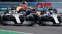 Hamilton - Bottas - Mercedes - GP Ungarn 2019 - Budapest - Rennen