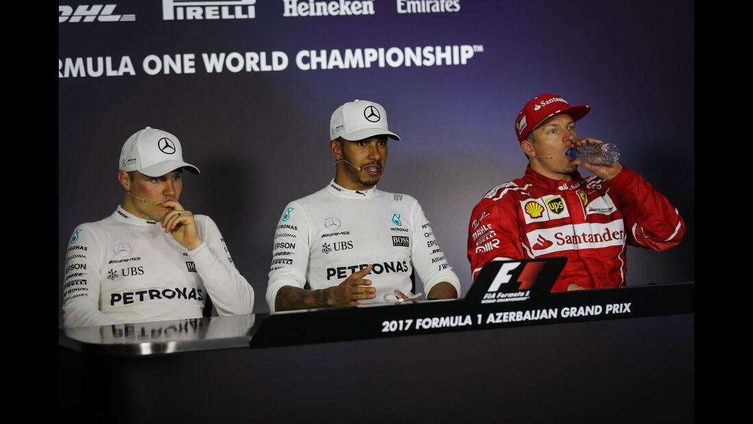 Hamilton - Bottas - Räikkönen - GP Aserbaidschan 2017 - Qualifying - Baku - Samstag - 24.6.2017