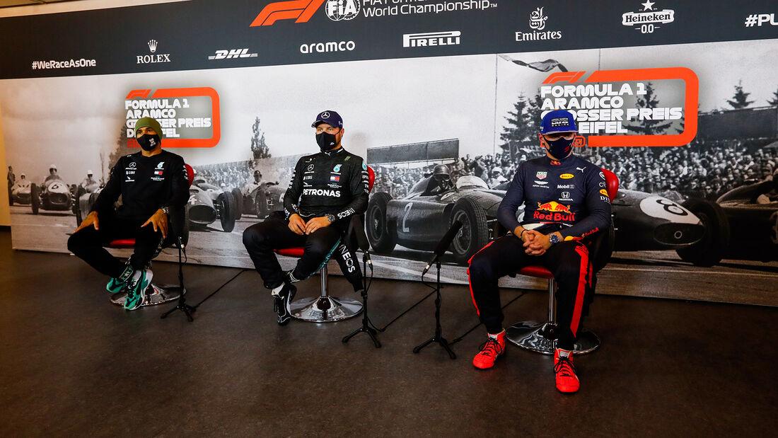 Hamilton - Bottas - Verstappen - Formel 1 - GP Eifel - Nürburgring - Samstag - 10.10.2020