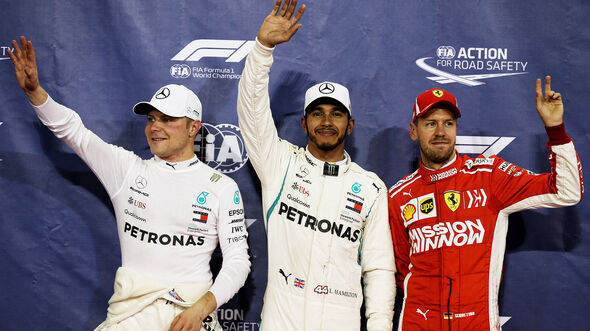 Hamilton, Bottas & Vettel - GP Abu Dhabi 2018