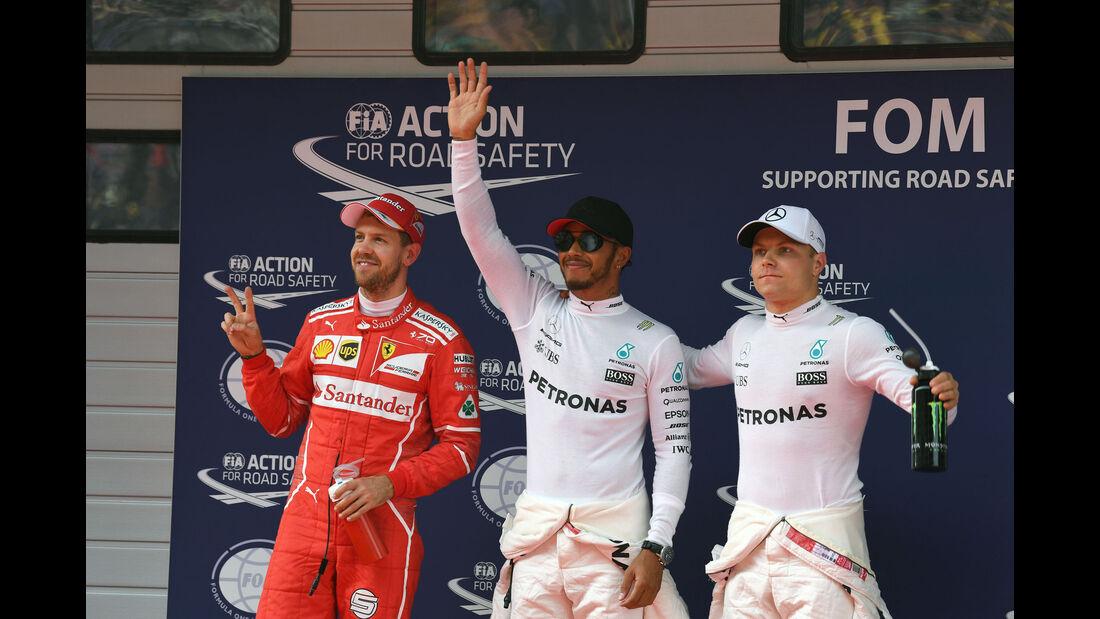 Hamilton - Bottas - Vettel - GP China 2017 - Qualifying - 8.4.2017