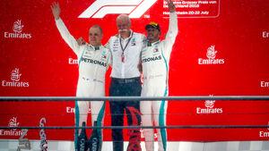 Hamilton - Bottas - Zetsche - Podium - GP Deutschland 2018 - Rennen