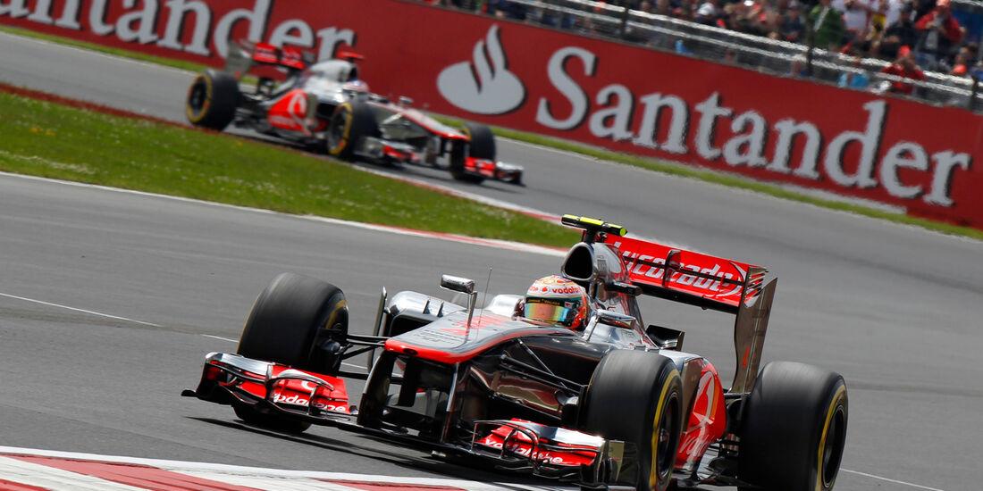 Hamilton Button McLaren GP England 2012