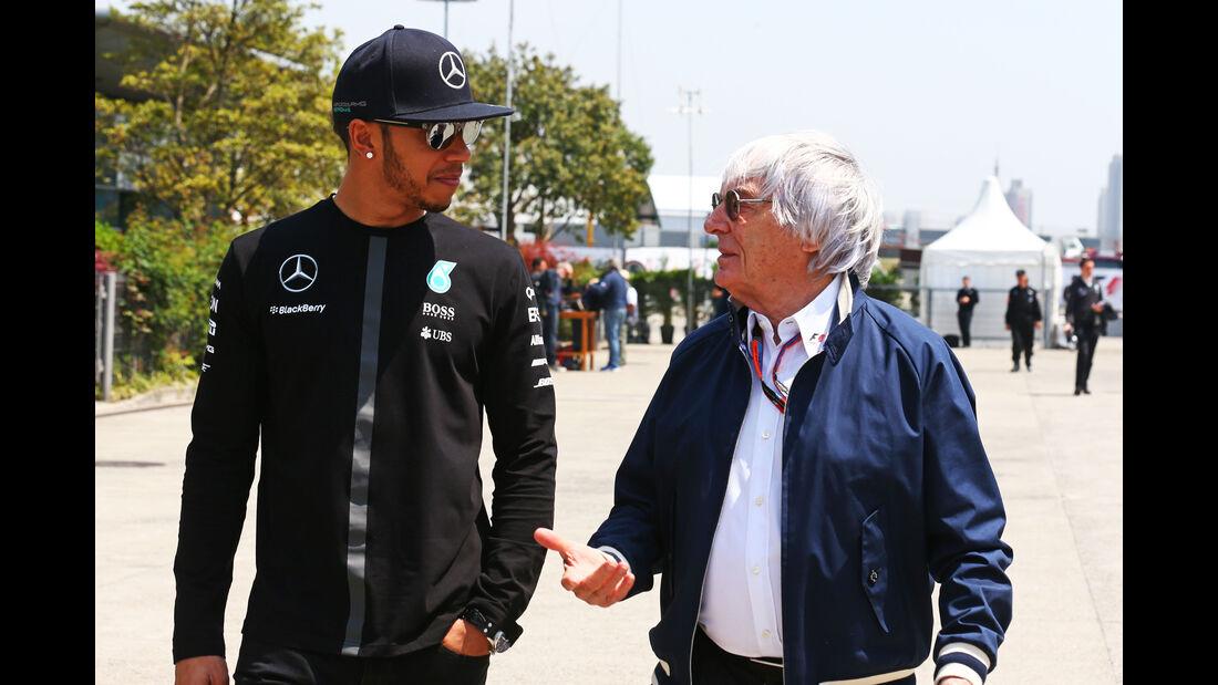 Hamilton & Ecclestone - Formel 1 - GP China - Shanghai - 11. April 2015