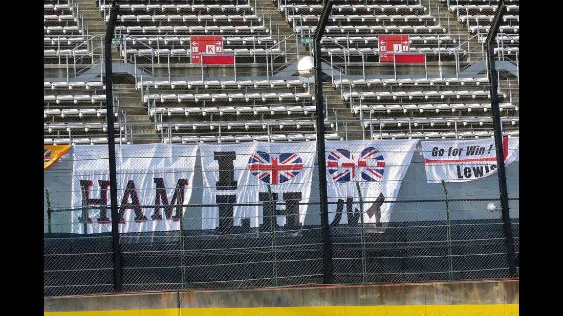 Hamilton-Fans - Formel 1 - GP Japan - Suzuka - 23. September 2015