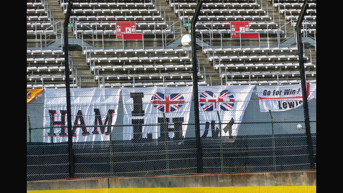 Hamilton-Fans - Formel 1 - GP Japan - Suzuka - 23. September 2015