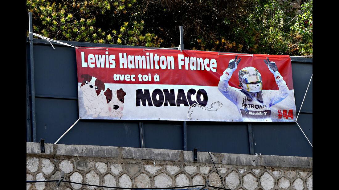 Hamilton-Fans - Formel 1 - GP Monaco - 25. Mai 2016