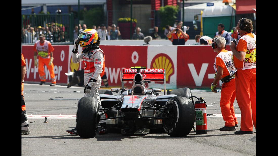 Hamilton GP Belgien F1 Crashs 2012