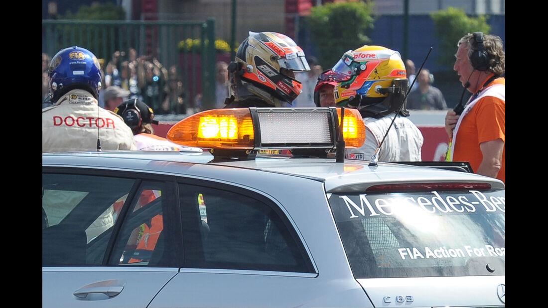 Hamilton & Grosjean - GP Belgien 2012