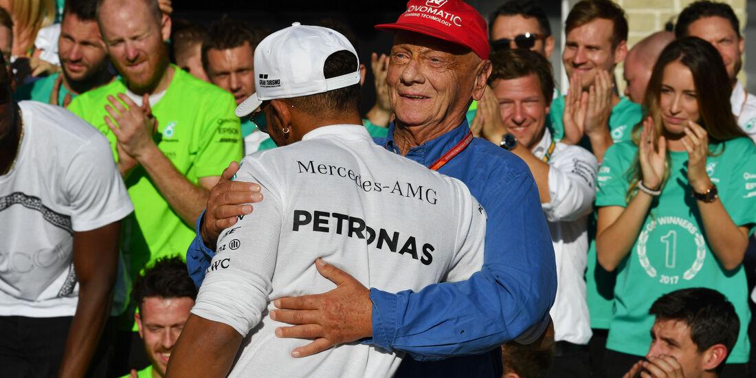 Hamilton - Lauda - Mercedes - GP USA 2017 - Rennen