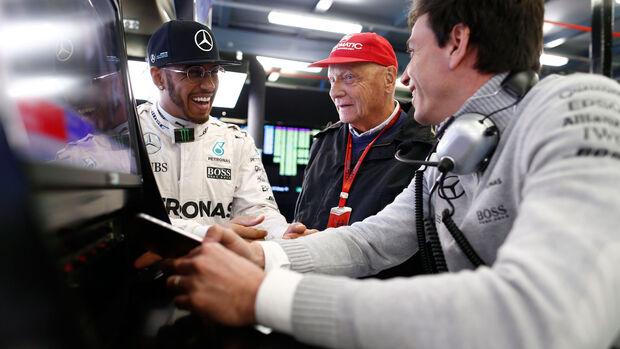 Hamilton - Lauda - Wolff - GP Abu Dhabi 2016 - Formel 1
