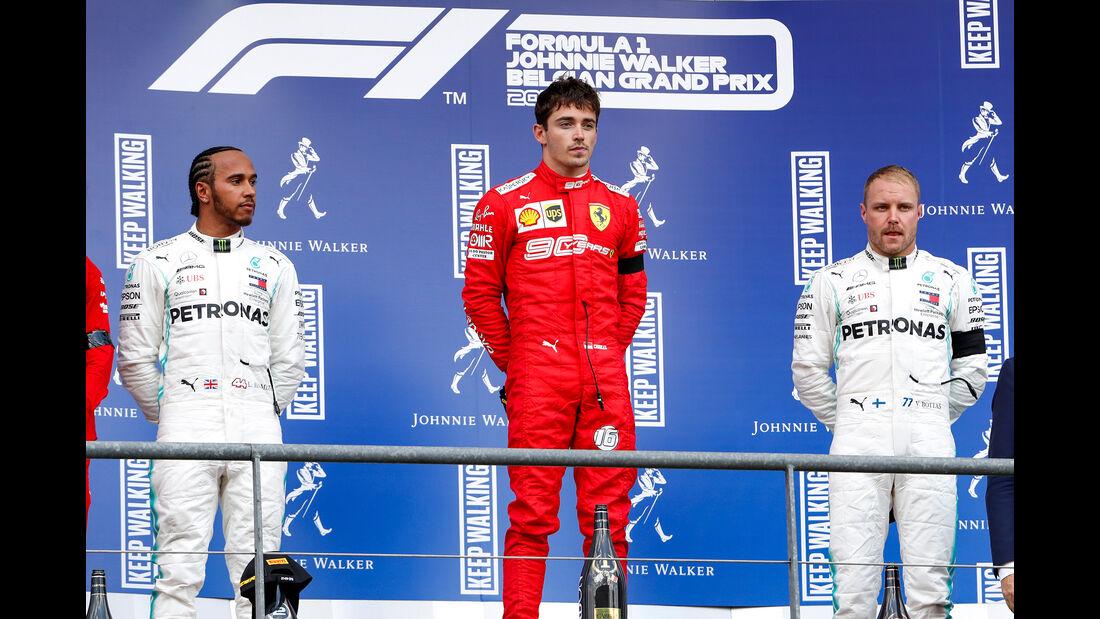 Hamilton - Leclerc - Bottas - GP Belgien 2019 - Spa-Francorchamps