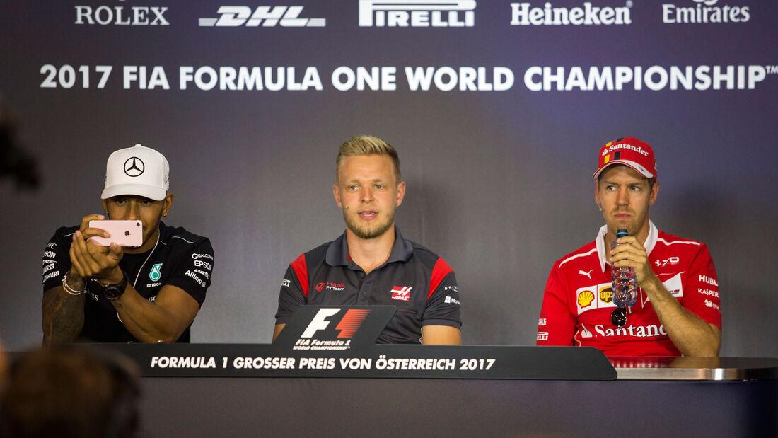 Hamilton - Magnussen - Vettel - GP Österreich - Spielberg - Donnerstag - 6.7.2017