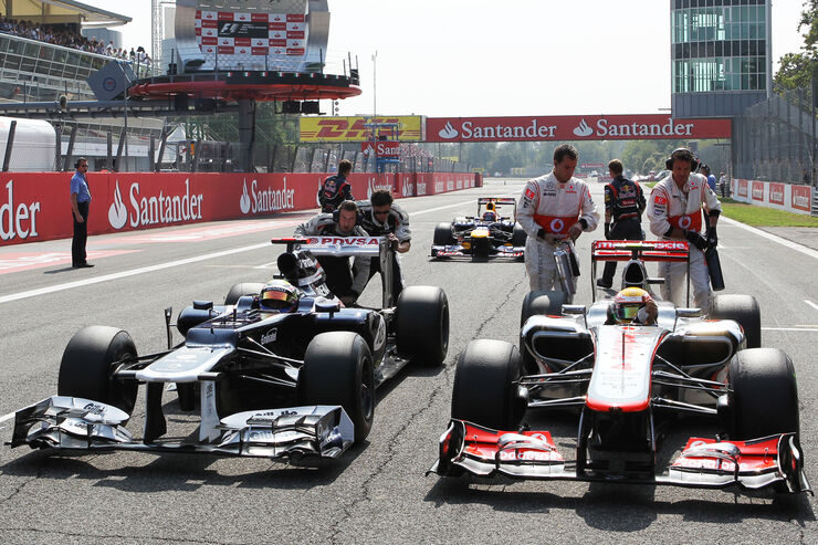 Hamilton & Maldonado GP Italien 2012