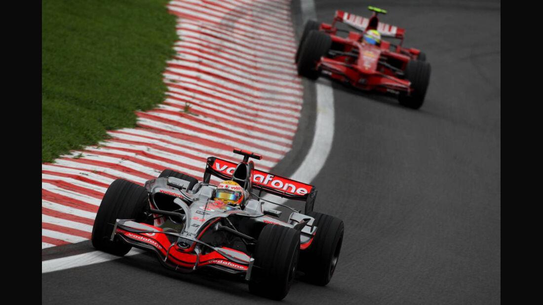 Hamilton Massa 2008 GP Brasilien