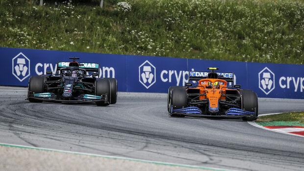 Hamilton - Norris - GP Österreich 2021 - Speilberg - Rennen