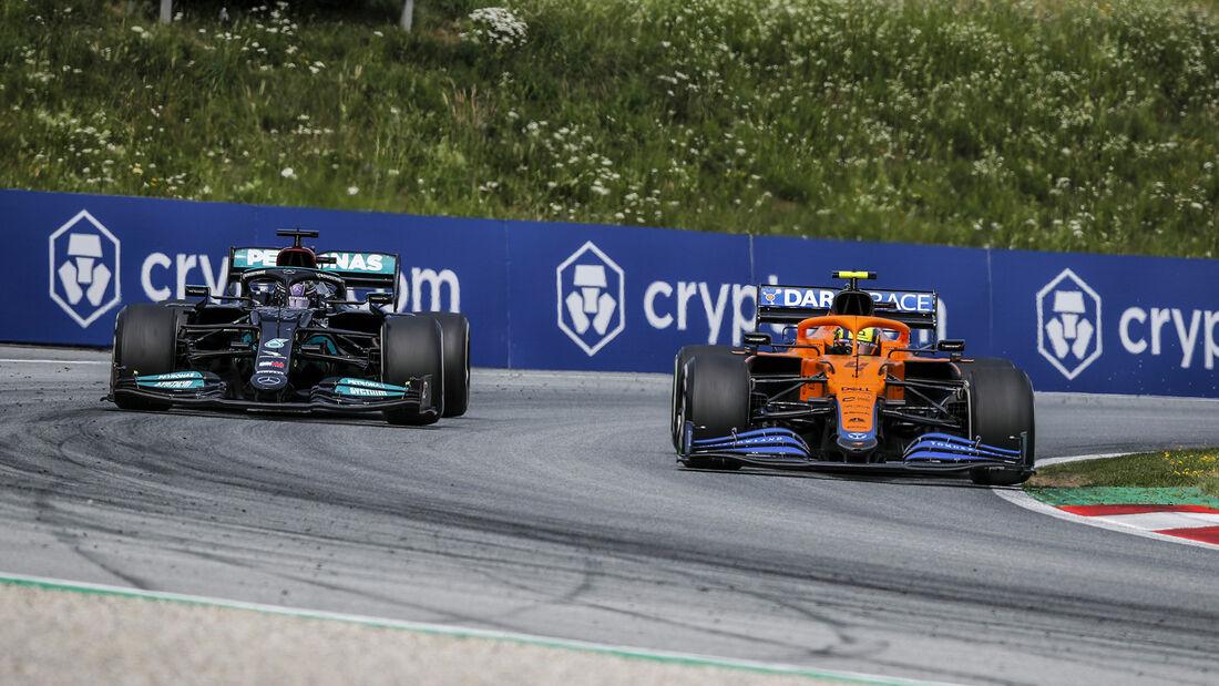Hamilton - Norris - GP Österreich 2021 - Spielberg - Rennen