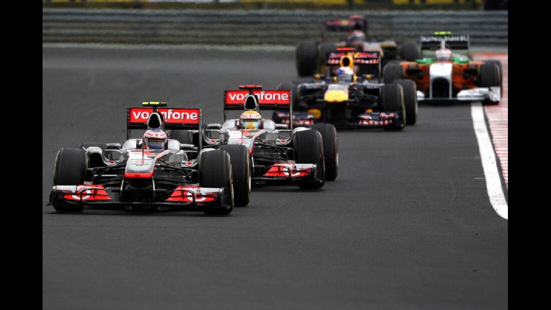 Hamilton - Noten - GP Ungarn - Formel 1 - 31.7.2011
