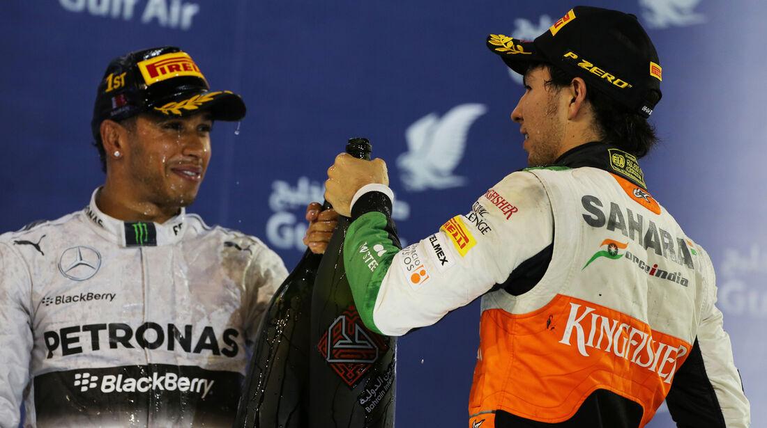 Hamilton & Perez - Formel 1 - GP Bahrain 2014