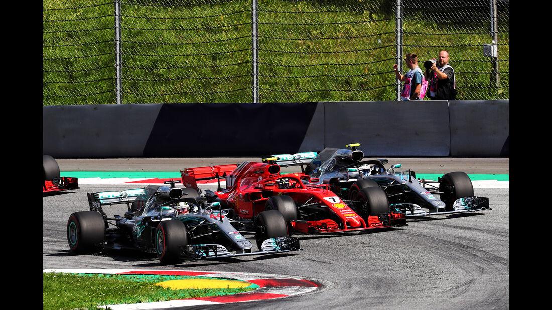 Hamilton, Räikkönen & Bottas - GP Österreich 2018