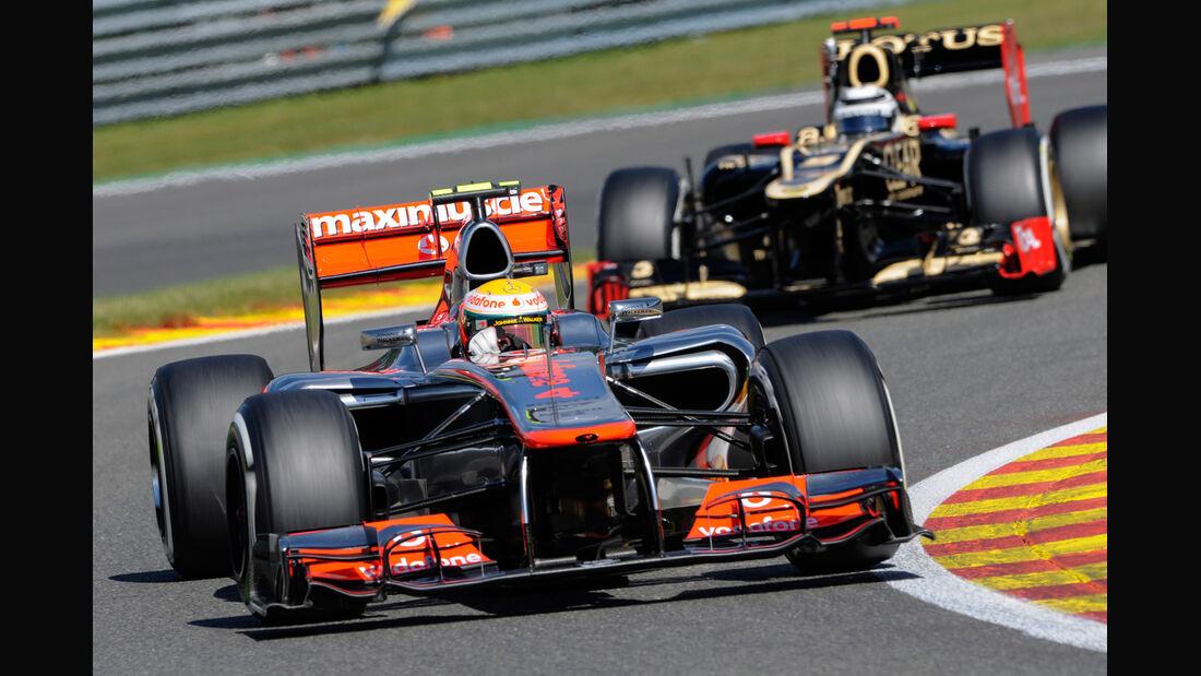 Hamilton & Räikkönen - Formel 1 - GP Belgien - Spa-Francorchamps - 1. September 2012