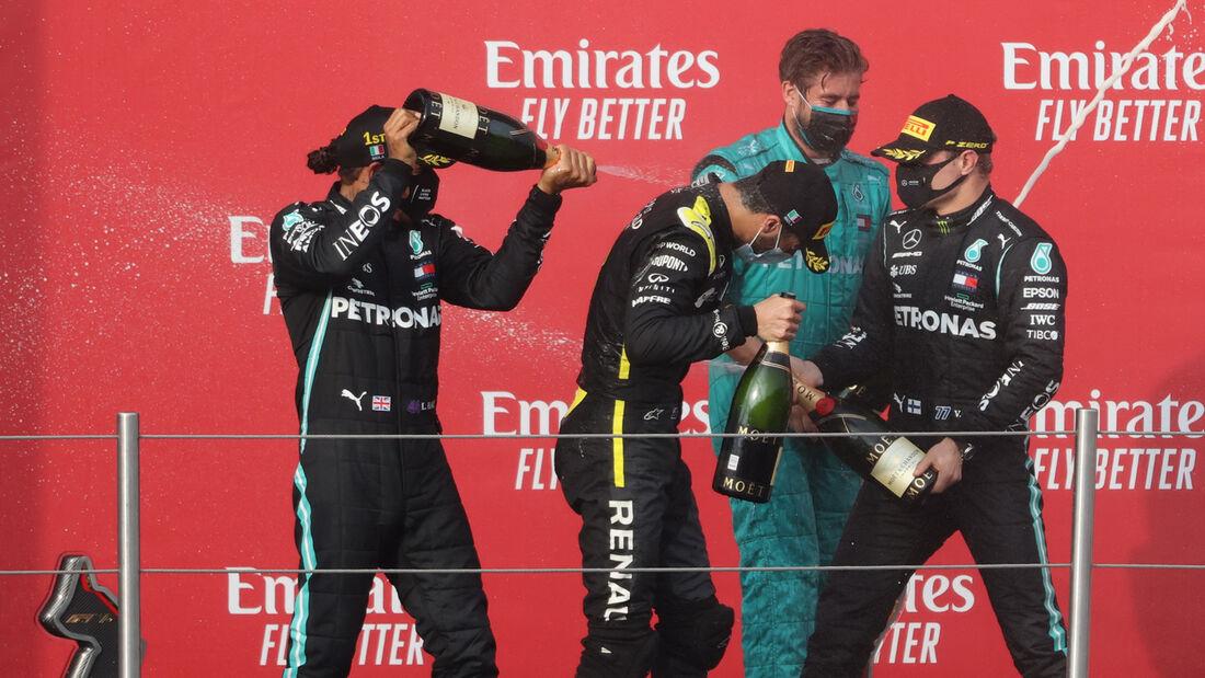 Hamilton - Ricciardo - Bottas - GP Emilia-Romagna 2020 - Imola - Rennen