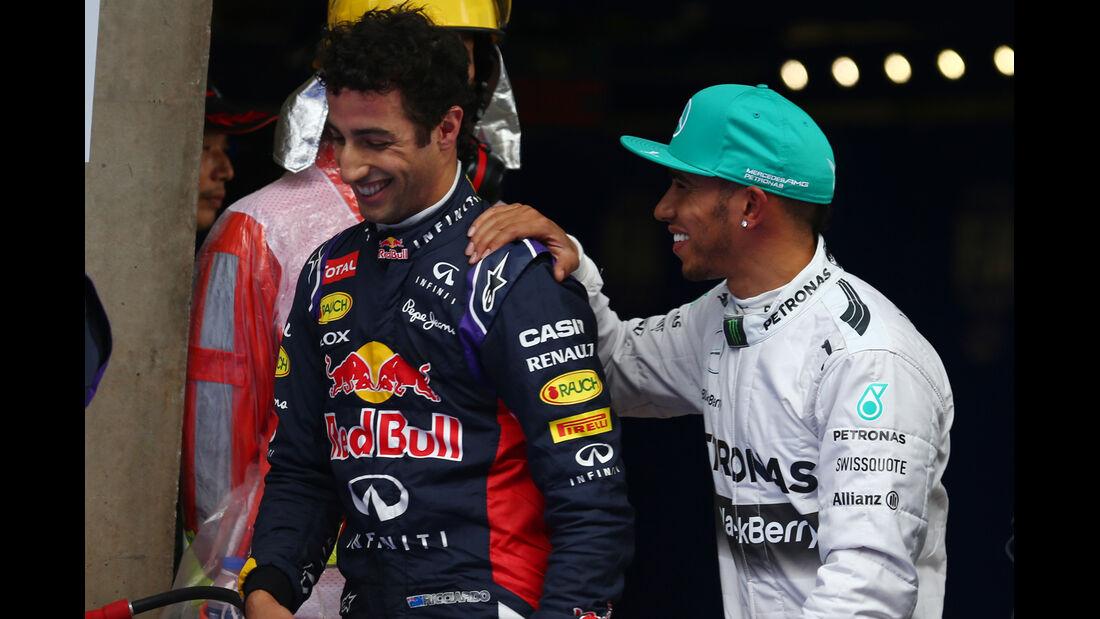 Hamilton & Ricciardo - Formel 1 - GP China - Shanghai - 19. April 2014