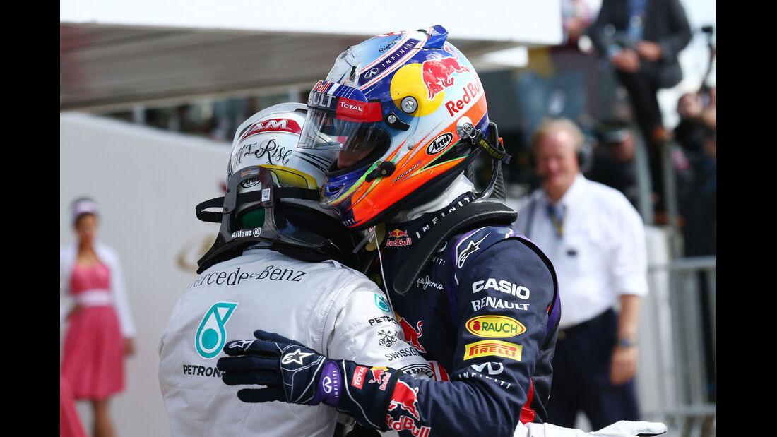 Hamilton & Ricciardo - GP England 2014