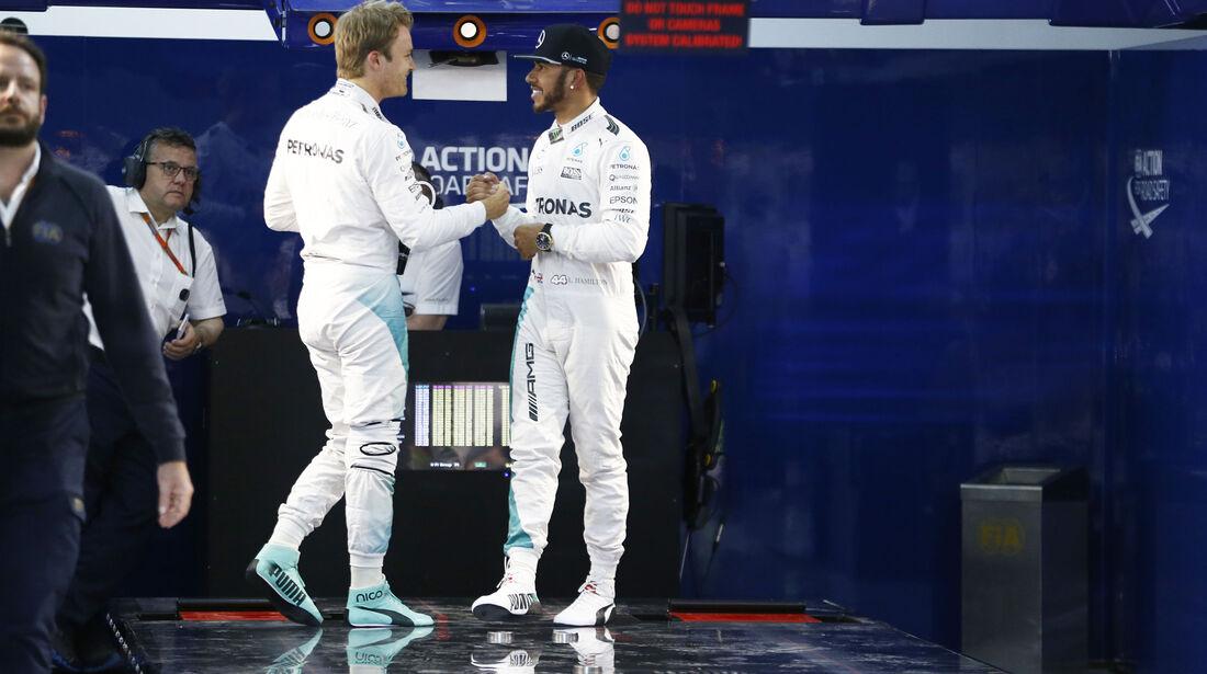 Hamilton & Rosberg - Formel 1 - GP Bahrain - 2. April 2016
