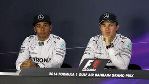 Hamilton & Rosberg - Formel 1 - GP Bahrain - Sakhir - 5. April 2014