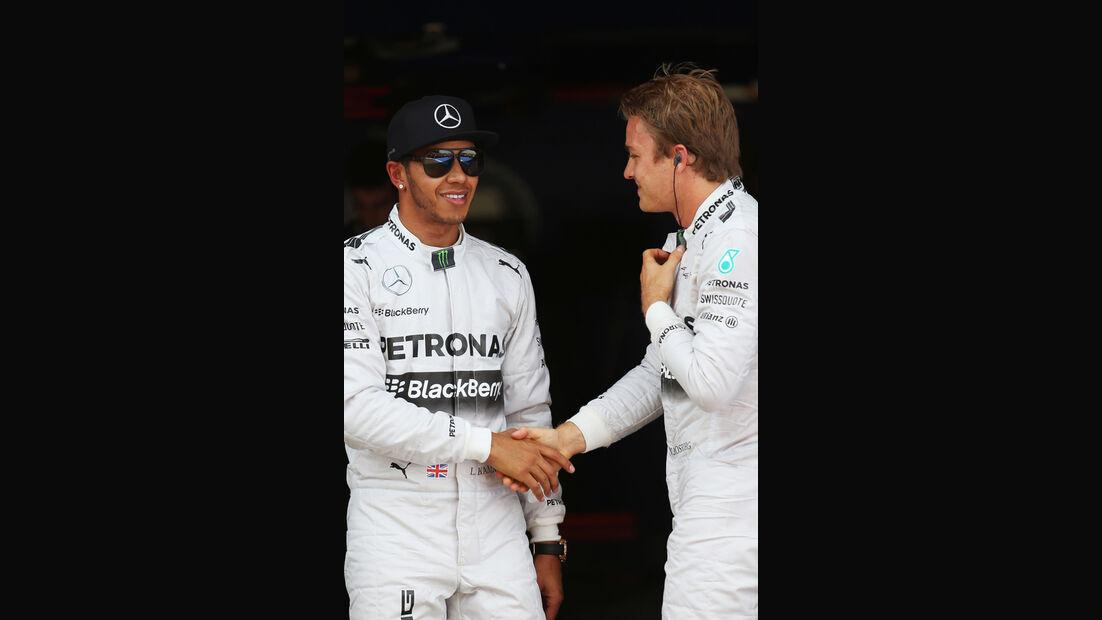 Hamilton & Rosberg - Formel 1 - GP Spanien - Barcelona - 10. Mai 2014