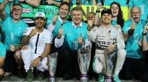Hamilton & Rosberg - GP Abu Dhabi 2015
