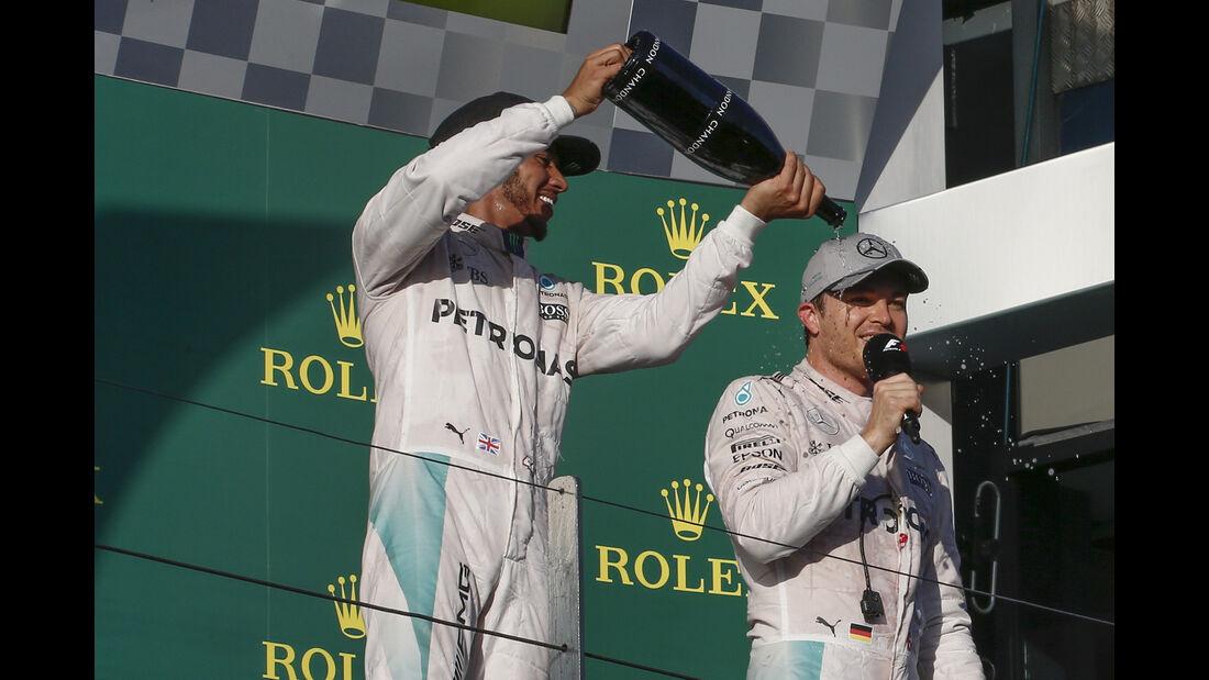 Hamilton & Rosberg - GP Australien 2016