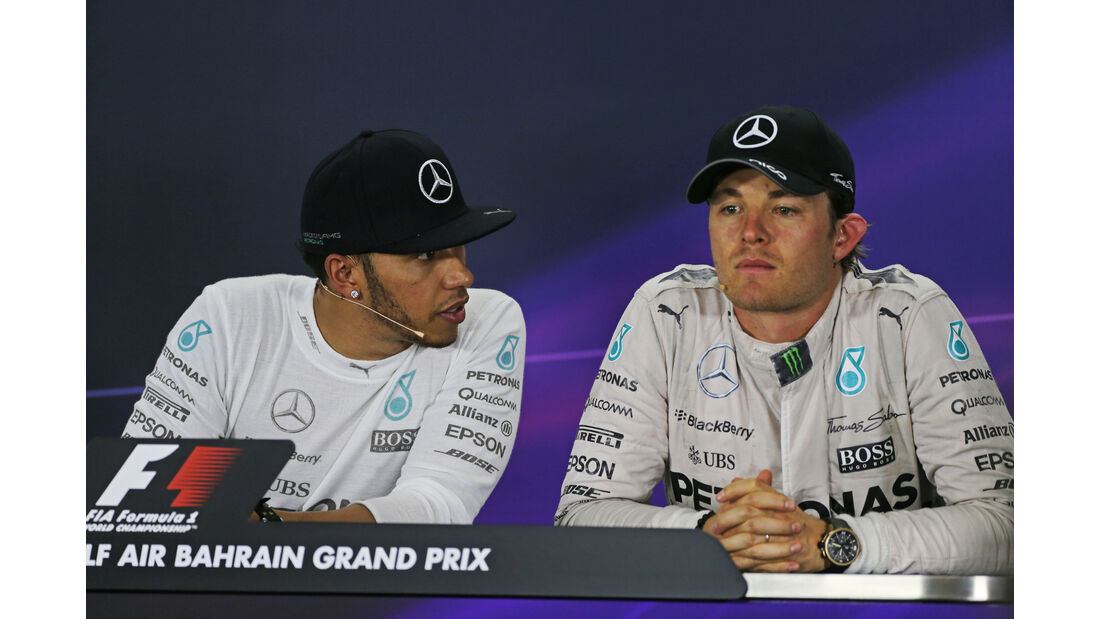 Hamilton & Rosberg - GP Bahrain 2015