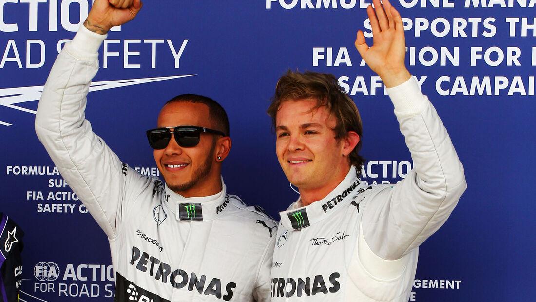 Hamilton & Rosberg - GP England 2013 - Qualifying