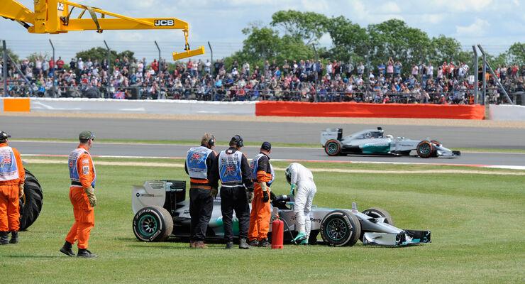 Hamilton & Rosberg - GP England 2014