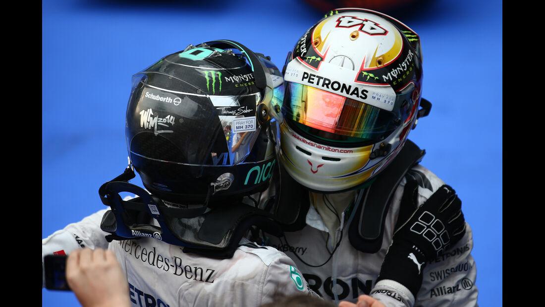 Hamilton & Rosberg - GP Malaysia 2014
