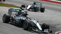 Hamilton & Rosberg - GP Malaysia 2015