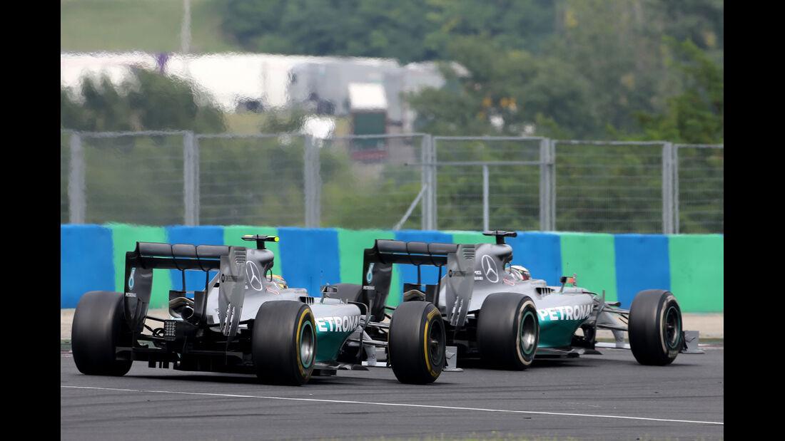 Hamilton & Rosberg - GP Ungarn 2014