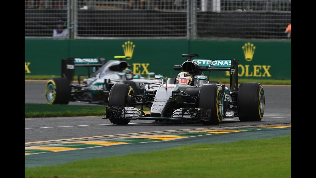 Hamilton & Rosberg - Mercedes - Formel 1 - GP Australien - Melbourne - 18. März 2016