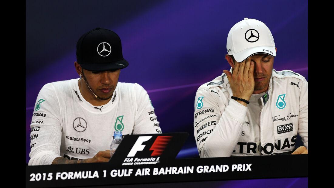 Hamilton & Rosberg - Mercedes - Formel 1 - GP Bahrain - 18. April 2015