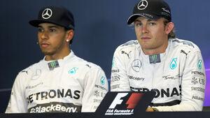 Hamilton & Rosberg - Mercedes - Formel 1 - GP Belgien - Spa-Francorchamps - 23. November 2014