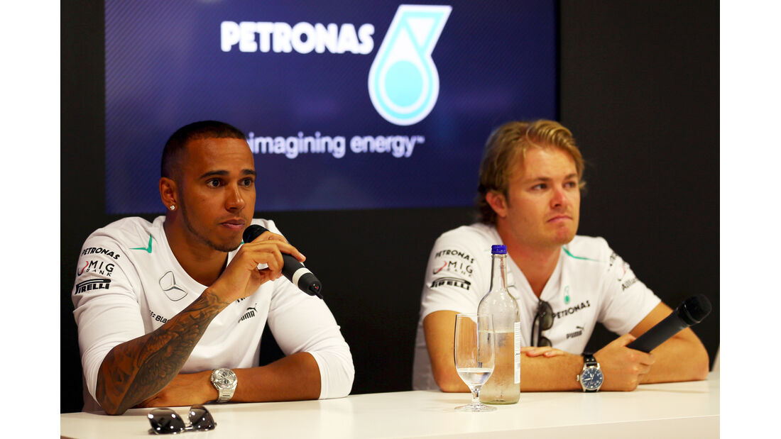 Hamilton & Rosberg - Mercedes - Formel 1 - GP Italien - 7. September 2013