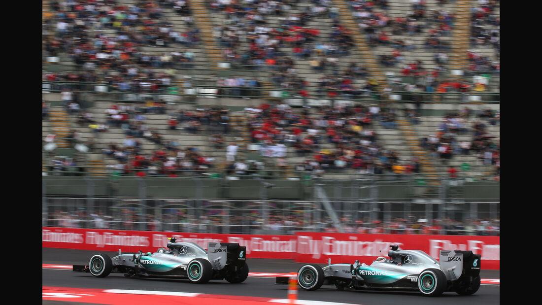 Hamilton & Rosberg - Mercedes - Formel 1 - GP Mexiko - 30. Oktober 2015