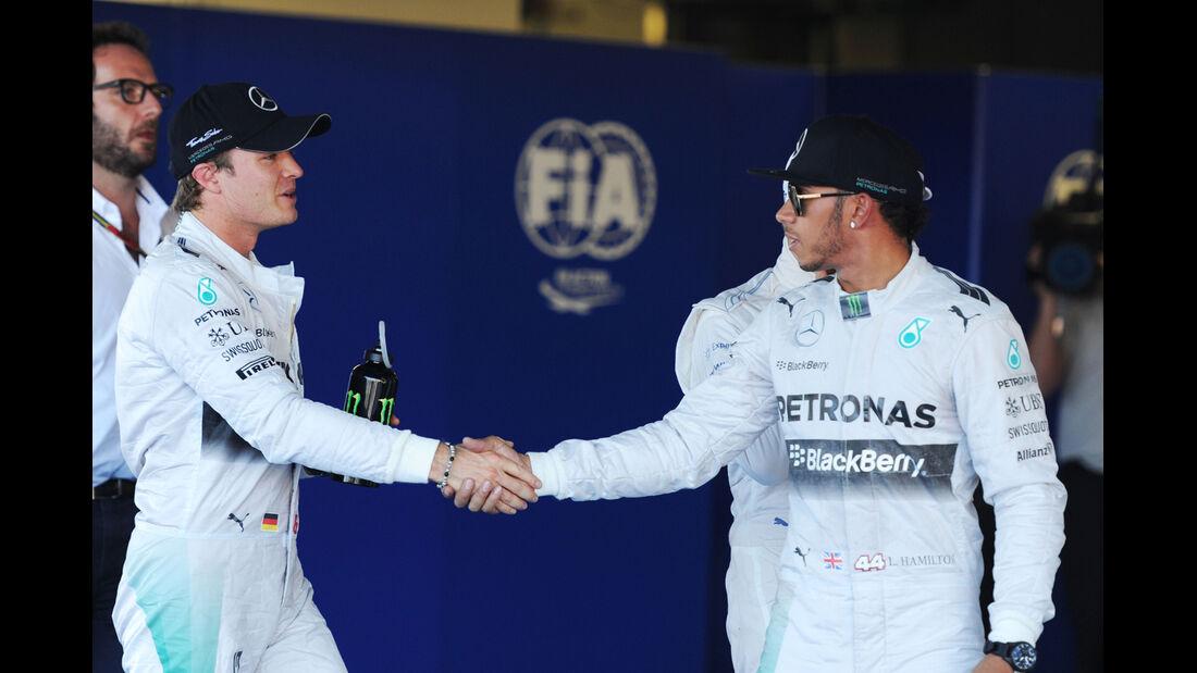 Hamilton & Rosberg - Mercedes - Formel 1 - GP Russland - 11. Oktober 2014
