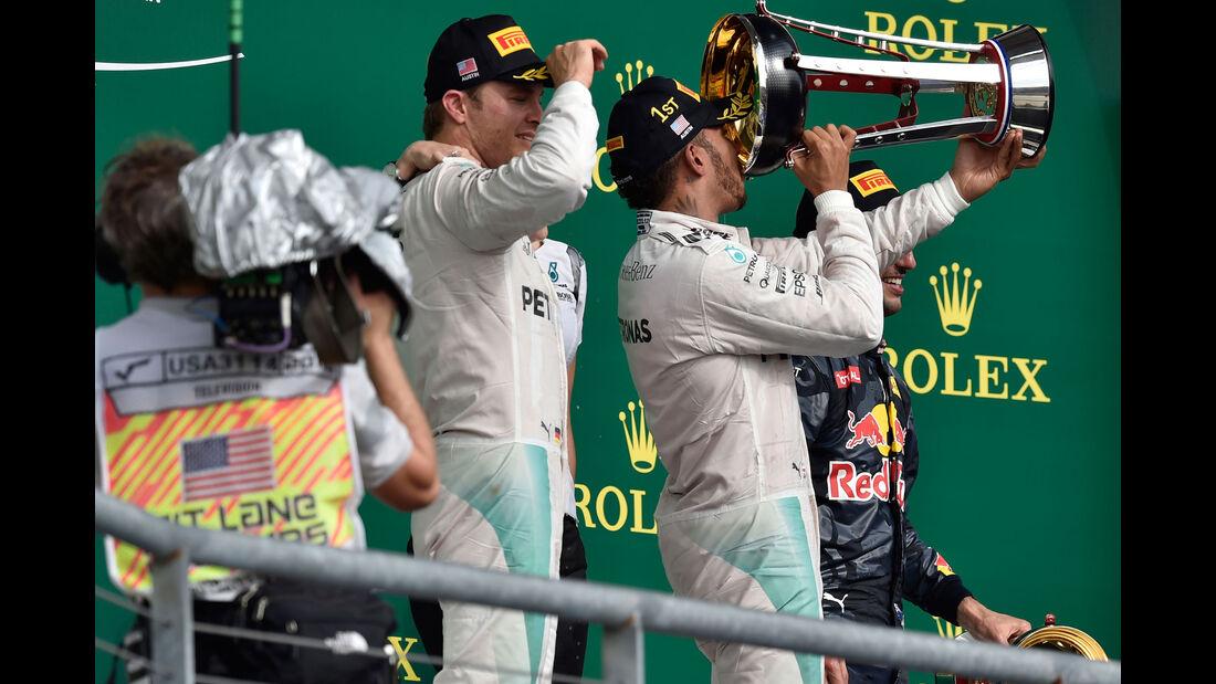 Hamilton - Rosberg - Mercedes - GP USA 2016